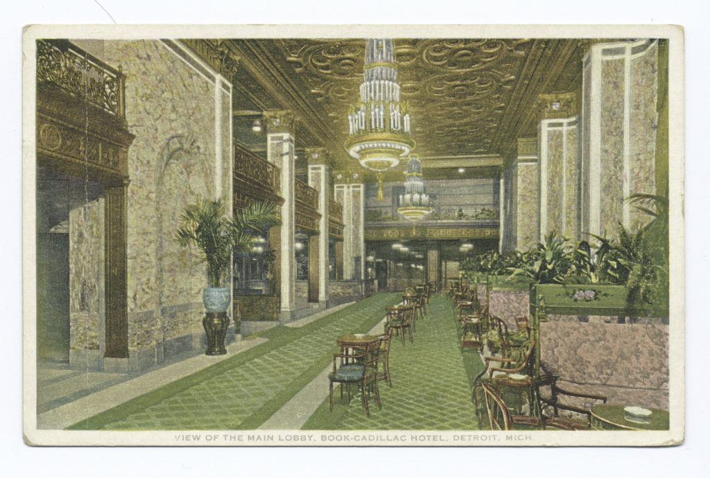 Cadillac Hotel, Detroit MI (Scan by NYPD) via Wikimedia Commons